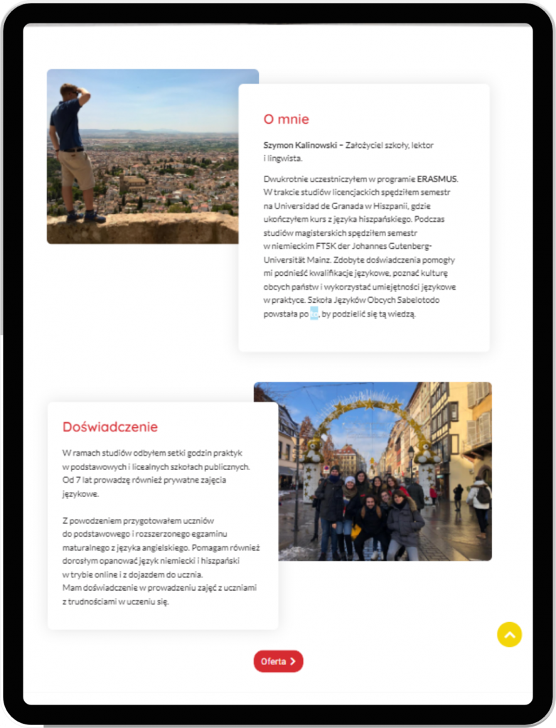 tablet strona www